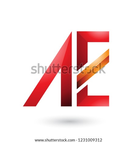 Red and Orange Geometrical Dual Letters of A and E Vector Illust Stock photo © cidepix
