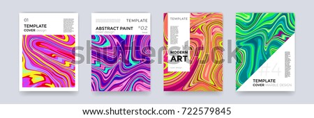 Gradient Fluid Background Vector. Magazine Blank. Ink Paint. Geometric Shape. Liquid Design Illustra Stock photo © pikepicture