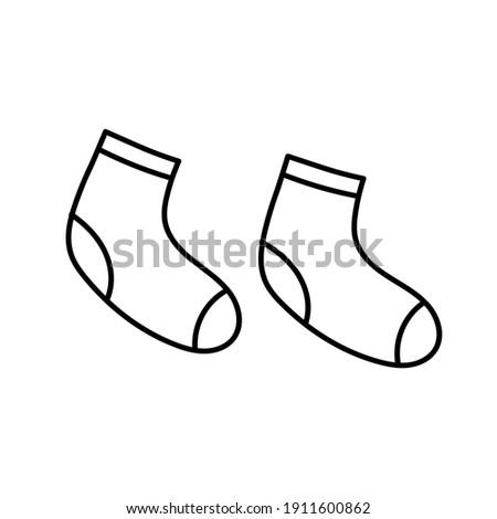 Par calcetines recién nacido bebé dibujado a mano Foto stock © RAStudio