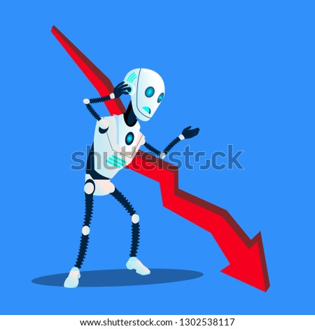Robot relevant vers le bas affaires tendance graphique Photo stock © pikepicture