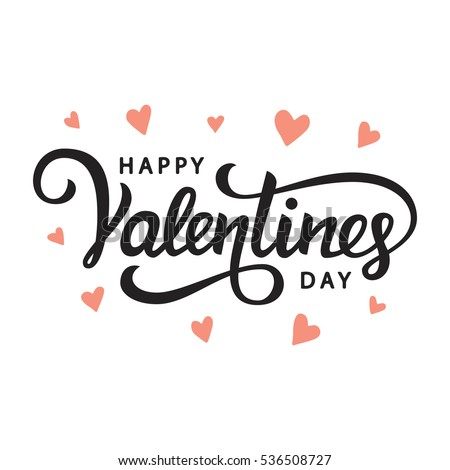 Love. Hand drawn lettering. Happy Valentine's Day. Heart with arrow. Freehand style. Doodle. Holiday Stock photo © user_10144511