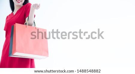 Consumismo donna molti moda Foto d'archivio © snowing