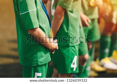 Sport Succes and Winning Concept. Close-up of Young Sports Team  Stock photo © matimix