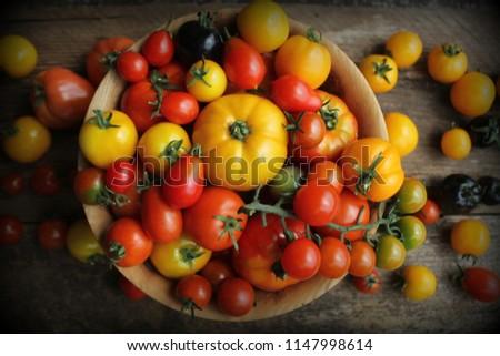 чаши свежие винограда помидоров Фермеры Сток-фото © Virgin