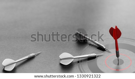 Successful Business Concept, Red Dart Reaching Center of a Targe Stock photo © olivier_le_moal