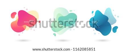 Absztrakt folyik folyadék elemek színes dinamikus Stock fotó © MarySan