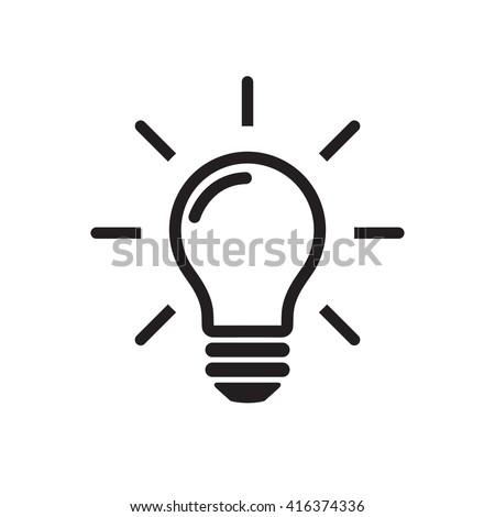 żarówka wektora rozwiązanie podpisania ikona jasne Zdjęcia stock © pikepicture