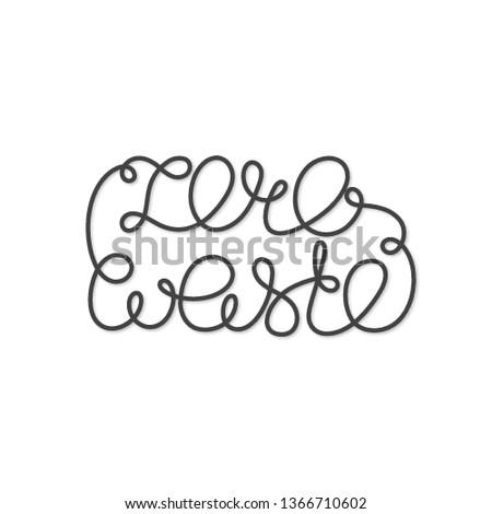 Pari a zero rifiuti lettere uno chiuso line Foto d'archivio © user_10144511