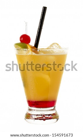 Cocktail Mai Tai with Light rum, dark rum, Orange Curacao, almon Stock photo © dashapetrenko