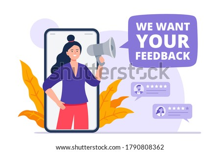 Online survey - rate a service, vote star on smartphone screen Stock photo © Winner