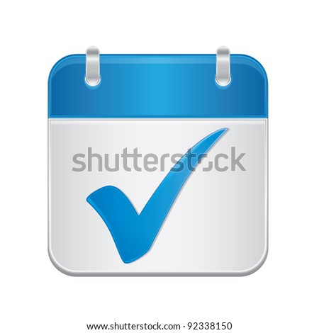 Illustration of check mark icon in square and blank box, vector illustration isolated on white backg Stock photo © kyryloff