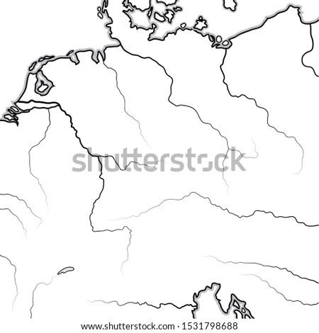 Map of The GERMAN Lands: Germany, Saxonia, Bavaria, Teutonia, Prussia, Austria. Geographic chart. Stock photo © Glasaigh