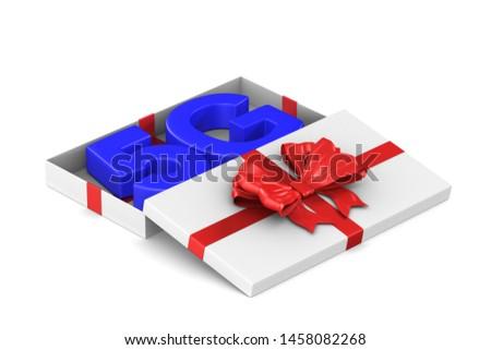 Hálózat nyitva ajándék doboz fehér izolált 3D Stock fotó © ISerg