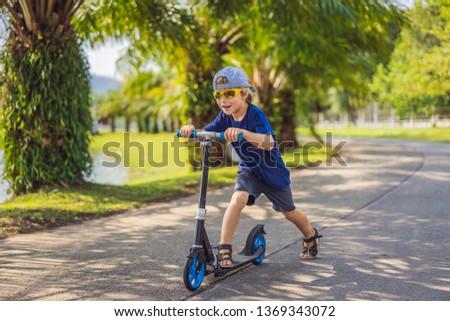 Kind kick park kinderen leren Stockfoto © galitskaya