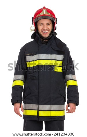 Kaukasisch brandweerman helm Stockfoto © wavebreak_media