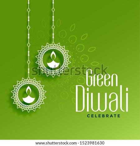 Verde diwali colgante decoración naturaleza Foto stock © SArts