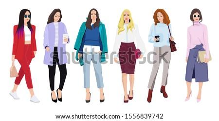 Conjunto mulheres elegante roupa casual Foto stock © MarySan