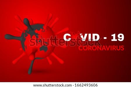 Stock photo: Coronavirus Covid-19, 2019-nKoV. Illustration of virus unit medical mask. World pandemic concept. Ve