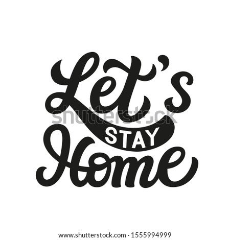 Font design for word stay home quarantine with kid on the chair Stock photo © bluering