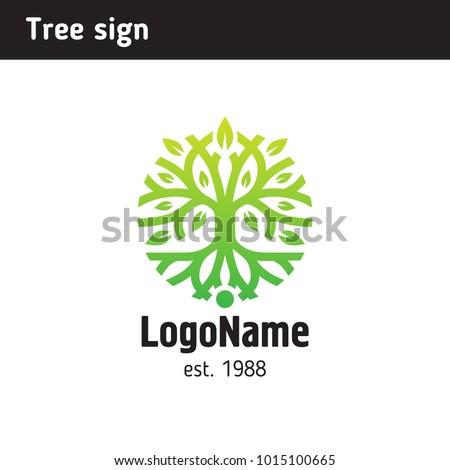 Absztrakt fa sziluett gyökér buja vállalati Stock fotó © designer_things