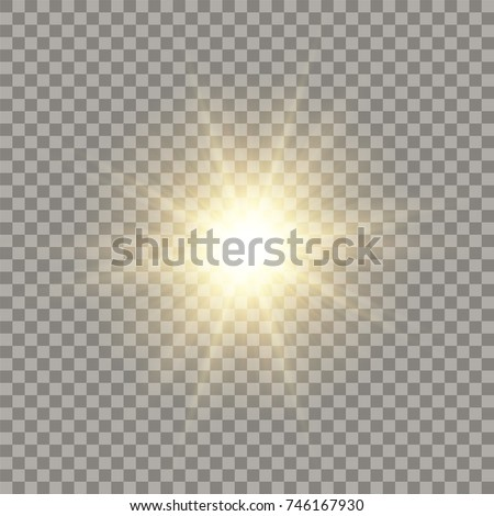 Bright realistic yellow sunbeam effect with lens flare on transparent Stock photo © evgeny89