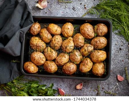 Lezzetli taze ev yapımı patates hizmet Stok fotoğraf © dash