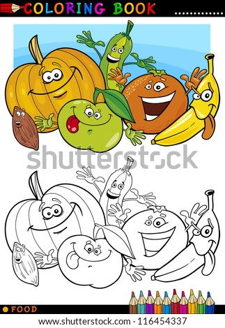 cartoon children characters group coloring book page Stock photo © izakowski