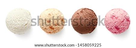 Vanilla ice cream scoops Stock photo © karandaev