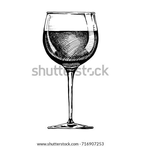 Standard red wine glass. Vector illustration on white background Stock photo © Arkadivna