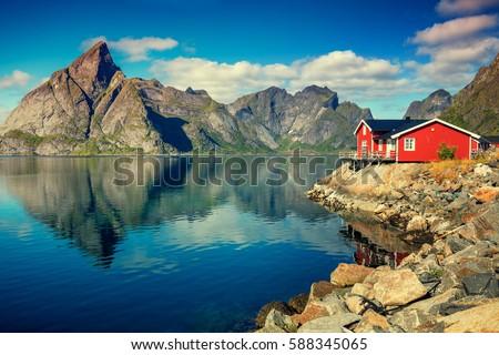 Costa Noruega norueguês mar inverno Foto stock © dmitry_rukhlenko