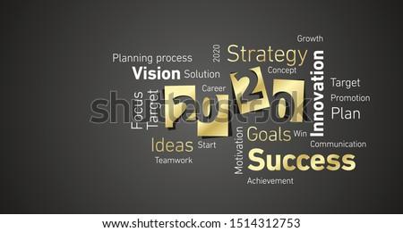 2020 plan concept Stock photo © goir