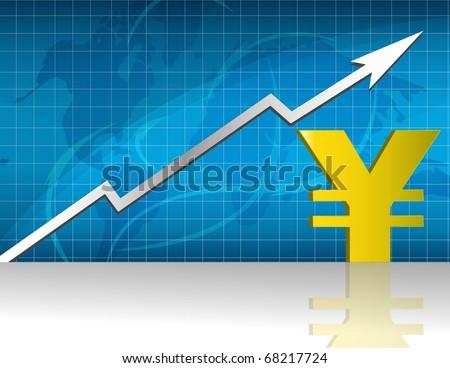 Сток-фото: Rising Yen Rate