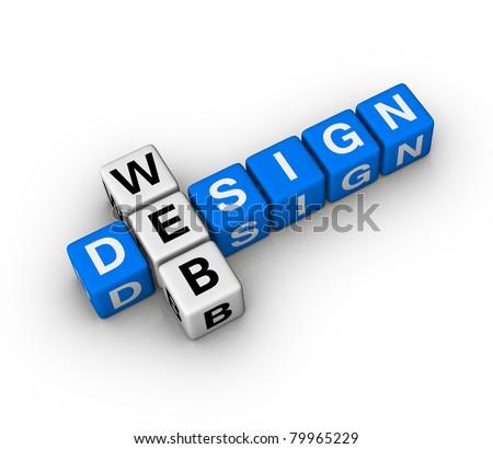 Crossword Of Web Design Foto stock © ALMAGAMI