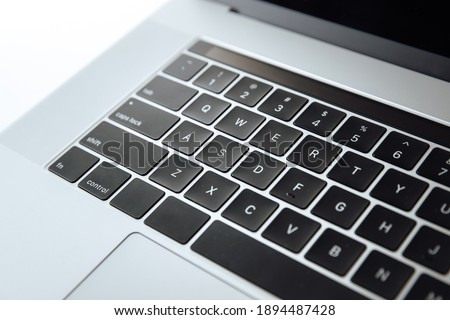 Modern silver  Laptop keyboard concept photo Stock photo © epstock