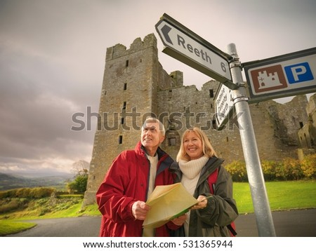 Couple all smiles near building Stock photo © photography33