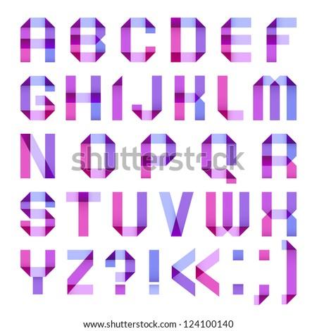 Spectral letters folded of paper ribbon-purple Stock photo © Ecelop