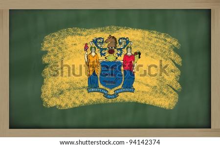 Bandiera New Jersey lavagna verniciato gesso americano Foto d'archivio © vepar5