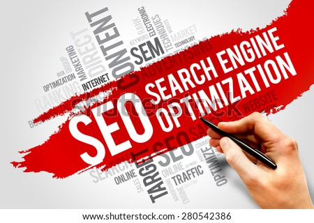 Seo Words Show Websites Search Engine Optimization Or Optimizing Stock photo © stuartmiles