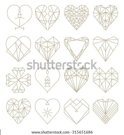 vettore · cuore · diamante · mosaico · abstract · design - foto d'archivio © dahlia