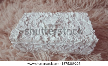 background with butterflies and ornaments made of precious ston Stock photo © yurkina