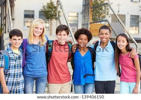 肖像 グループ プライマリー 立って 教室 ストックフォト © monkey_business