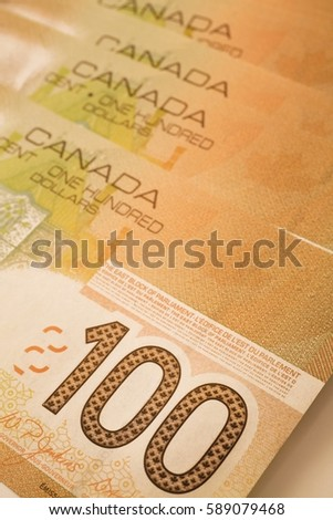 Full frame of Canadian dollar bills Stock photo © bmonteny