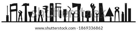Venta banner mantenimiento herramientas pintura descuento Foto stock © LoopAll