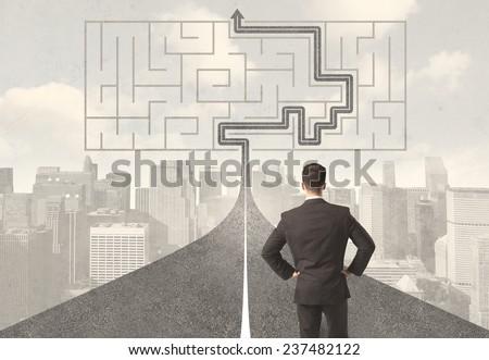 Laberinto estrategia éxito solución dirección Foto stock © teerawit