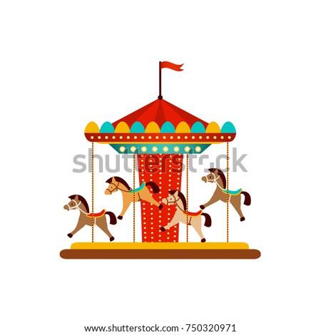 Alegre icono caballo diseno diversión parque Foto stock © kiddaikiddee