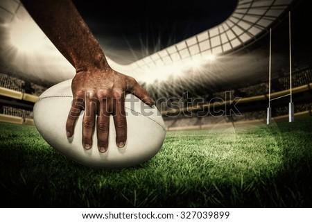 Rugby gracz rugby ball biały sportu Zdjęcia stock © wavebreak_media