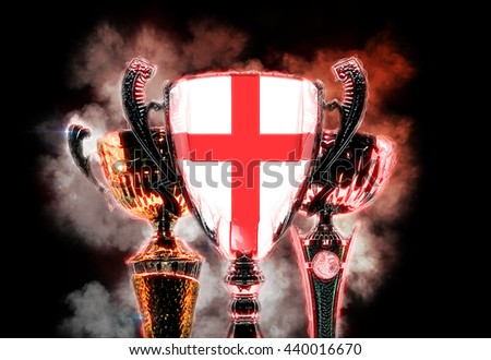 Trophy cup textured with flag of England. 2D Digital illustration Stock photo © Kirill_M
