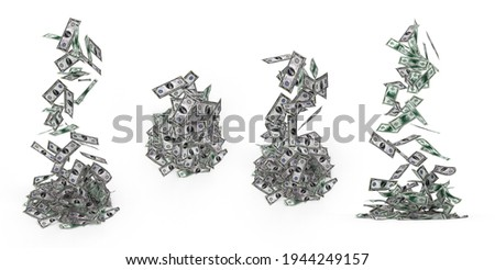 Promissory notes. Financial crisis. Isolated 3D image Stock photo © ISerg