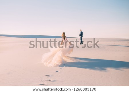 Beautiful bride in wedding dress outdoors photo. landscape backg Stock photo © Victoria_Andreas