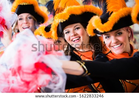 German traditional dance group Funkenmariechen in carnival celeb Stock photo © Kzenon